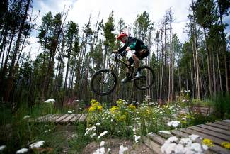 Kevin Soller flies on the Super D track during the 2013 Breck Bike Week. Bike Week returns this year from June 22-26, when locals celebrate all things biking on the trails we're so lucky to call home.