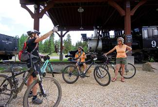 A group takes a historic bike tour of Breckenridge's mining and railroad past during Breck Bike Week on June 24.