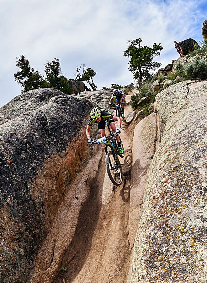 Topeak-Ergon pro Bryan Dillon at the Gunnison Growler mountain bike race. The 28-year-old native of Jackson, Wyoming is racing in the Leadville 100 on Aug. 13 before heading straight to Breckenridge for the Breck Epic from Aug. 14-19.