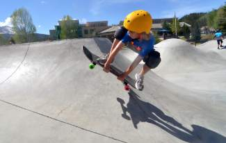 Scenes from a day at the Breckenridge skate park with the Breck youth skateboard program. The program runs all summer for young skaters ages 4 to 14 years old, with a mix of group skate camps held on the concrete bowls and ramps at the season-old skate park.