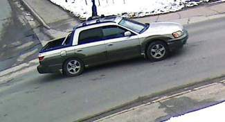 The Breckenridge Police Department is seeking information from the public about a theft of an underground utility reader. Police have identified this silver and black, two-toned Subaru Baja as the suspect vehicle in the theft.