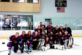 The Breckenridge Vipers men's team poses for well-deserved photos after winning the division and season title for the Mountain West Hockey League Rocky Division, a Senior A minor league. The Vipers now head to Las Vegas for their first-ever shot at the MWHL Cup against the San Diego Skates, beginning April 29.