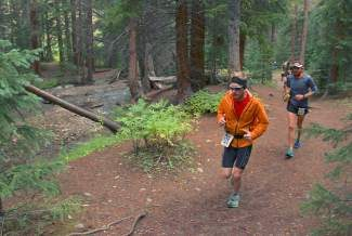 Runners handled the elements Sunday in the 19th running of the Breck Crest marathon, half-marathon and 10K. Organizers reported snow above treeline on Wheeler Pass.