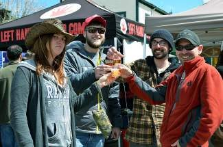 The Breckenridge Spring Fever Beer Festival will take place on Ridge Street on Saturday, April 5, from noon to 5 p.m. Three live bands will play throughout the day as visitors sample beers from more than 30 breweries. Tickets are quickly running out and are $27.50 for unlimited tasting or $70 for VIP access, which includes a lunch buffet. For tickets and information, visit www.breckenridgebeerfestival.com.