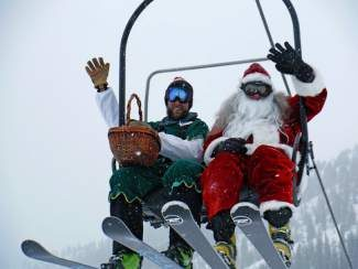 Santa visited Arapahoe Basin on Saturday, Dec. 21. Ring in 2014 with a special dinner by chef Christopher Rybak in a beautiful mountain setting this year at A-Basin. Celebrate New Year's Eve with New York at 10 p.m. with a glass of champagne and party favors. This is a lift-serviced only event. Guests are not permitted to snowshoe before or after dinner. Cost is $95, plus tax. Call (888) ARAPAHOE.