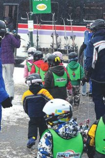 A group of preschoolers from the Carriage House and Timberline day care call it a day on the slopes at Beaver Run Resort last year. A ballot measure in Breckenridge to fund child care scholarships was narrowly defeated Tuesday, Nov. 5.