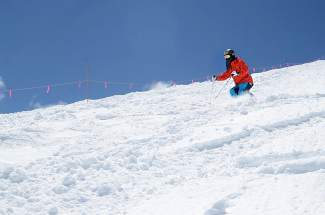 A member of the Chinese national moguls ski team trains at Arapahoe Basin in 2015. To combat arthritis pain, physical therapists recommend cutting back on the intensity of exercise, not removing it completely.