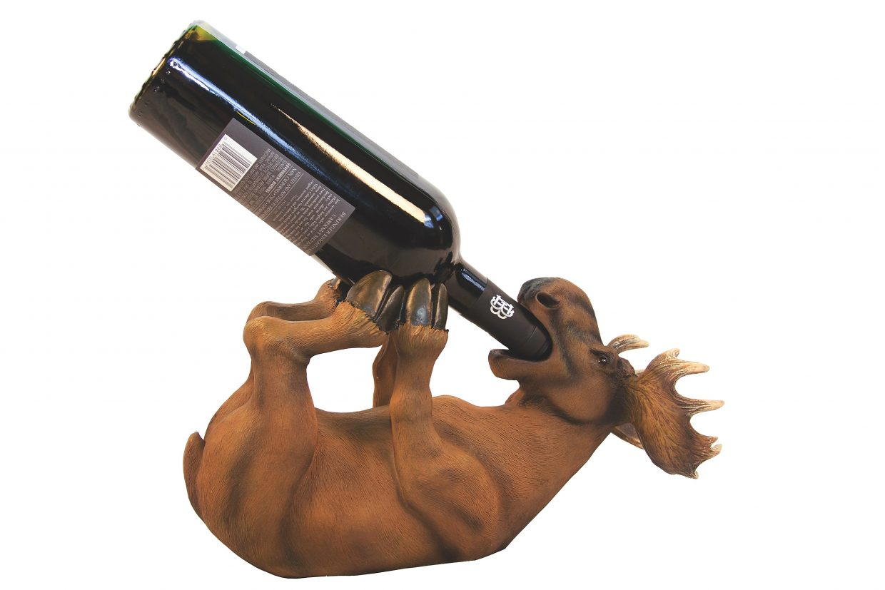 Featured: Moose Drinking Wine $29.99