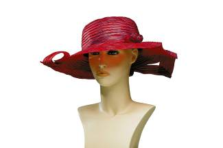 FEATURED: Swiss wavy tubular braid, twisted brim $218