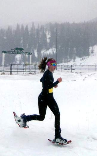 Summit High's McKenna Ramsay at the Colorado High School Snowshoe Championships in 2013. Ramsay competes at the state championship in Leadville this coming Saturday Jan. 30.