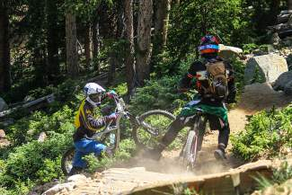 A crash on the Big Mountain Enduro course at Keystone last summer. Wearing a helmet on the bike trails and ski runs is one of the easiest ways to prevent traumatic brain injuries, or TBIs, that cause a slew of health problems far after an accident.