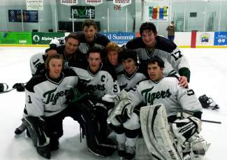 Seniors with the Summit High School boy's hockey team (left to right, across all rows): Johann Westerhoff, Casey Lewark, Sean Costello, Carter Flavell, Brendan Greenberg, Joe McComb, Bode Culbreath and Wyatt Dickerson.​