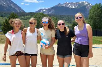 Top competitors are all smiles on the sand after a one-hour volleyball clinic and 11 competitive matches of two-on-two volleyball for the Princess of the Beach tourney at the Silverthorne rec center on July 8.