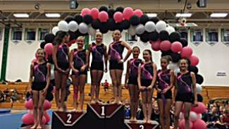 Silverthorne Storm gymnasts enjoyed plenty of success at the youth regionals meet in Aurora July 15-16, including (left to right): Raina Miller, Deanna Davidson, Kassidy Smierciak, Lily Hess, Scarett Murphy, Isabella Comai, Holly Visser, Bryton Ferrari and Larissa Mero.