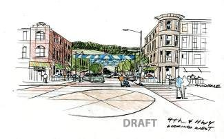 This rendering of 4th Street in Silverthorne is one of several residents will have the opportunity to comment about during the town of Silverthorne's final comprehensive plan community meeting. The public workshop takes place from 5 to 7 p.m. Monday, March 31 at the Silverthorne Pavilion, 400 Blue River Parkway.
