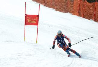 A racer rounds a gate during a Copper Business Race Series giant slalom on the Copperopolis course Feb. 18. The race drew about 60 skiers from across Summit County and even the Front Range.