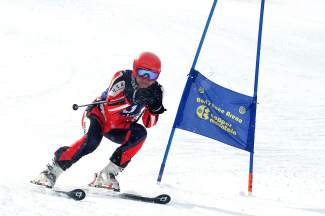 A racer on the course at the Copper Business League race series giant slalom, Feb. 18. The events are open to all ages and abilities for $25 for single races.