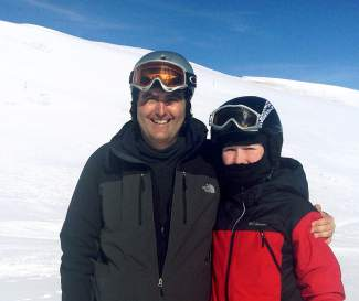 Eric Lindberg (left) with his eldest son, Michael, the morning before Eric suffered sudden cardiac arrest at Copper Mountain. Eric Lindberg credits the fast action of the ski patrol for saving his life.