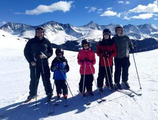 The Lindberg family at Copper Mountain just before Eric Linberg's sudden cardiac arrest on Windsong (from left): Eric, Jack, Hayley, Michael and Trish.