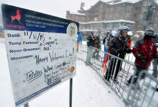 Copper Mountain opened with 7 inches of fresh snow on Nov. 11 after announcing two date changes earlier in the month. To coincide with Veteran's Day, the resort offered free tickets to all retired or active duty military.