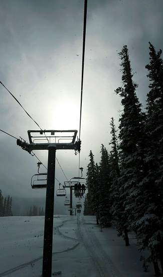 The sun emerged around noon on Copper Mountain opening day after an overnight storm dumped 7 inches (and counting) for first chair on American Eagle.