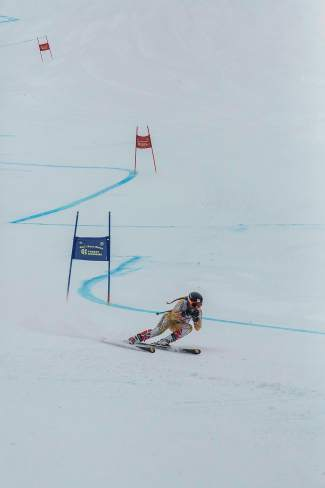 Summit-based skier Rosie Hust on the super-G course at the 2016 U.S. Ski and Snowboard Association U-19 Junior Championships at Copper Mountain.