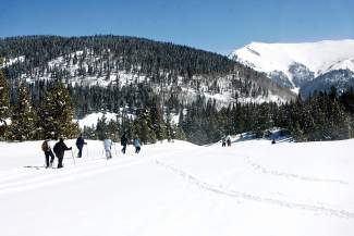 Over the weekend, Copper Mountain opened select slopes to uphill recreationalists, including skinners and snowshoers. An uphill access pass is required.