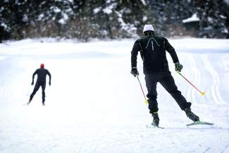 Skiers make their way up the slopes during the 2015 Uphill/Dowhill Challenge ski mountaineering race at Copper. This year, the event returns on Feb. 1 with two fun-loving races for teams of three. Costumes are mandatory.