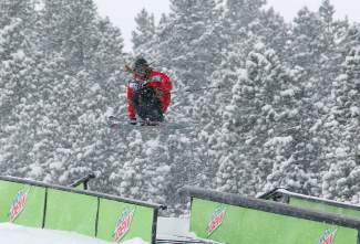 Norway's Henrik Harlaut airs onto a rail during the 2014 Dew Tour skier slopestyle finals. Harlaut returns this year to vie for his first Dew Tour podium.