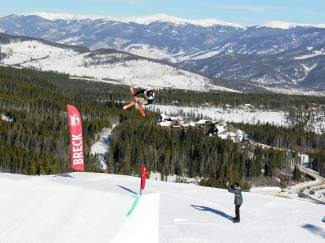 A skier airs off a slopestyle feature at the 2013 Dew Tour iON Mountain Championship.  This week Dew Tour officials announced a preliminary roster  for this year's competition which includes all eight recent Winter Olympic slopestyle and superpipe gold medalists, as well as a number of other top pros. The 2014 Dew Tour will take place Dec. 11-14.