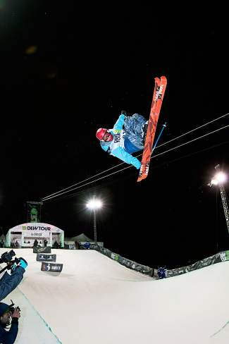 Ski and Snowboard Club Vail athlete Alex Ferreira flies out of the halfpipe at the 2013 Dew Tour. Men's ski halfpipe takes place Friday and late Saturday — under the lights.