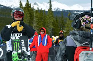 Taylor Gold of Steamboat Springs pauses for the camera after his second run at the Dew Tour halfpipe semifinal in Breckenridge on Dec. 10. Gold took second behind Shaun White.