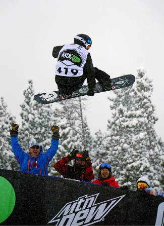 Shaun White airs out of the pipe on his winning run during the Dew Tour men's snowboard superpipe competition at Breckenridge Ski Resort Saturday. After a no-show at X Games Oslo this past week, White was confirmed for the Burton U.S. Open in Vail this coming weekend.