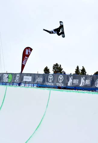 Shaun White tweaks a massive method on his first hit of the Dew Tour men's snowboard superpipe semifinal at Breckenridge on Dec. 10. After a no-show at X Games Oslo this past week, White was confirmed for the Burton U.S. Open in Vail this coming weekend.