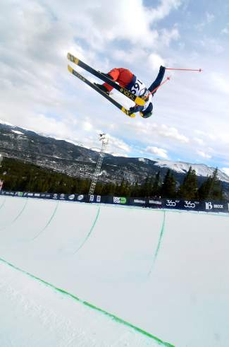 Jaxin Hoerter of Breckenridge floats over the deck during practice before the men's freeski superpipe at Dew Tour in Breckenridge on Dec. 11. The 15-year-old barely missed the cut for the final in December and is hoping for a better result at his first-ever X Games in Oslo this week.