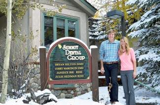 Husband and wife Bryan Hilton and Corry Marcincin purchased the Summit Dental Group in Dillion in July.