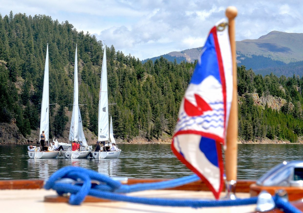 Scenes from the first day of racing (aka waiting for the wind) at the 2016 Dillon Open Regatta on Lake Dillon.