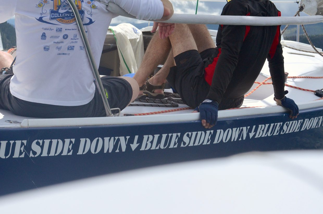 Words to live by on a J22 sailboat at the 2016 Dillon Open Regatta on Aug. 6.