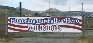 This sign was posted  Dec. 14 at the entry to Rifle High School.