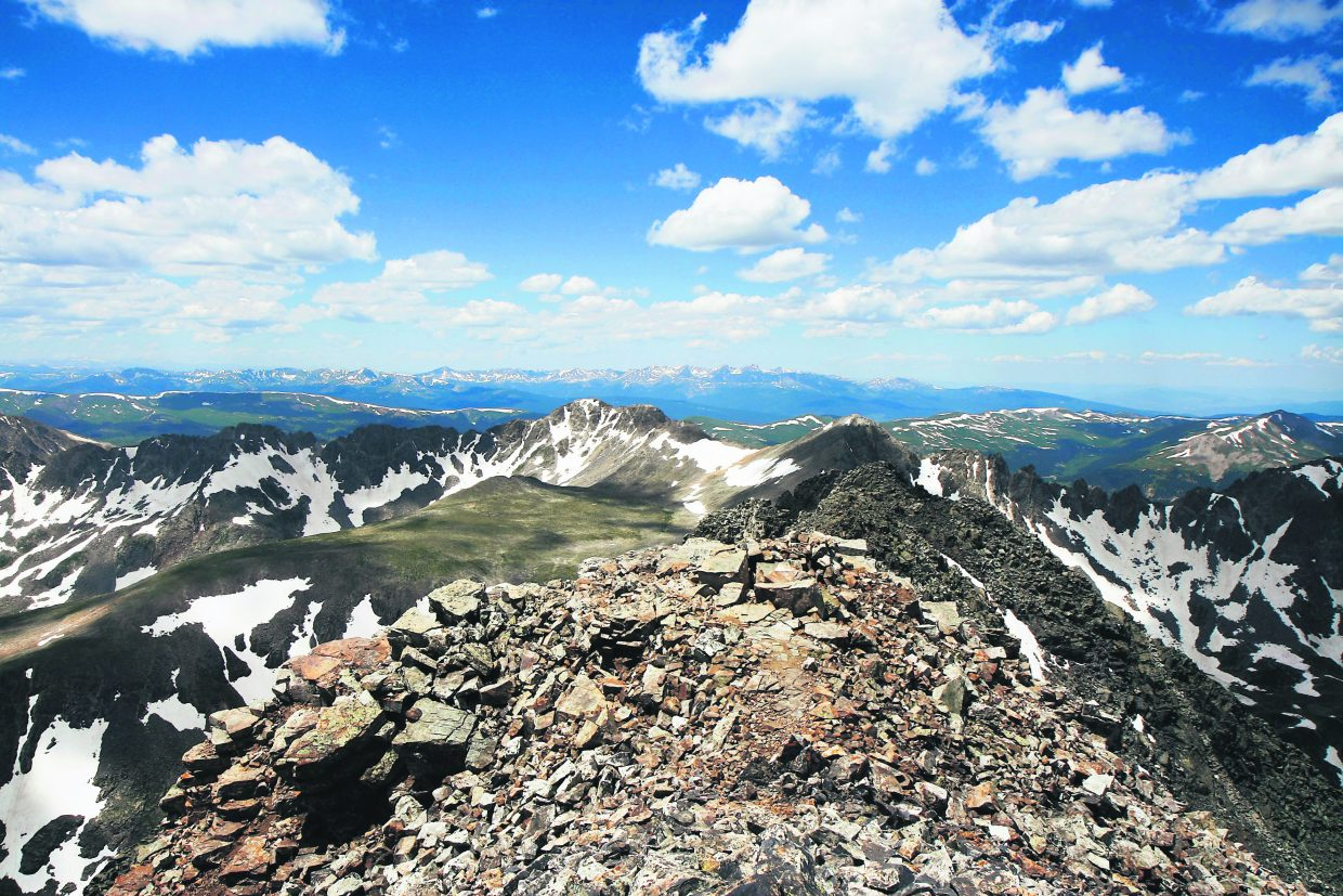 Quandary Peak (14,265') is the lone 14,000-foot member of the Tenmile Range, and not far from Breckenridge.