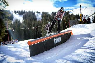 One of several features for various abilities at the Copper Mountain early-season park last year. The park is slated to open on Nov. 14.