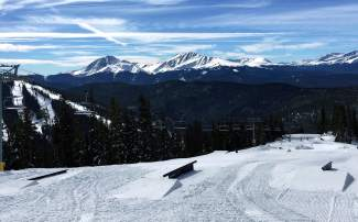 The recently constructed early-season park at Keystone, found near the top of the gondola on Dercum Mountain. The park opened with 20 features on Nov. 10.