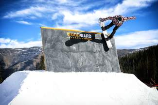 The wallride at Copper Mountain's early-season terrain park last year. The park is scheduled to open Nov. 14.