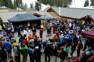 The scene in the village for the annual closing day party at Loveland Ski Area in 2015. The area closes for the season on May 8.