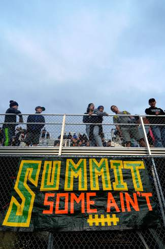 The Tigers drew a packed house for the home opener on Sept. 4, beating the Skyview Wolverines 34-7. Students and parents continue to pack the stands for every home match, spurring the Summit squad to find momentum in the second half of the season after a 1-3 start before homecoming.