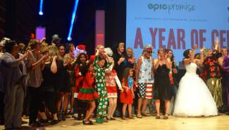 The models took one last bow before exiting the stage. More than 70 volunteers strutted the runway this year.