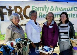 From left to right: Bag Ladie, Myrlene Zimmerman, LeRhea Dyke, Sandy Donlon and Diane Stucky at the Dillon Farmers Market.