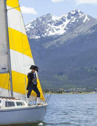 A pirate mans the bow during the New Belgium Timberline Cruiser Regatta out of the Frisco Bay Marina in 2014. The race returns this year with costumes, prizes and live music on June 25.
