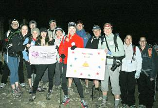 Early on Aug. 29, friends and supporters of Gordon and Kristen Gray climbed Grays Peak to raise money for the Charlotte and Gwenyth Gray Foundation. The foundation is helping the Grays support their two young girls as they fight Batten disease, a rare neurological disorder that takes hold in childhood. Why Aug. 29? It was Kristen Gray's birthday.