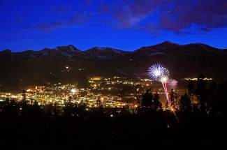Fireworks light up Breckenridge on Monday night during the July 4th festivities.